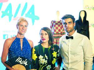 Maria Elena Rossi, directora de Marketing y Promoción de Turismo de Italia, Eugenia de la Torriente, directora de Vogue España, y el modelo Dani Marcel