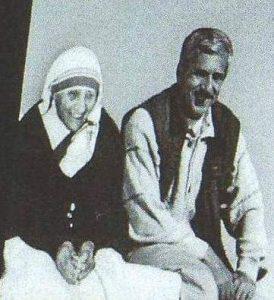 Con la zia Maria Teresa di Calcutta